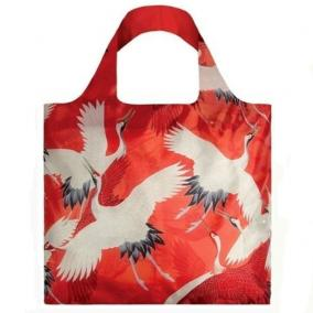 Сумка LOQI MUSEUM COLLECTION -Woman's Haori White and Red Cranes цена от 800 руб