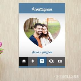 Постер на стену Lovestagram от 390 руб