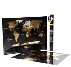 "Скретч-карта мира ""Travel Map Black"" цена от 2 799 руб"