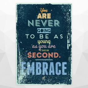 "Постер ""You are never going to be as young"" цена от 1 400 руб"